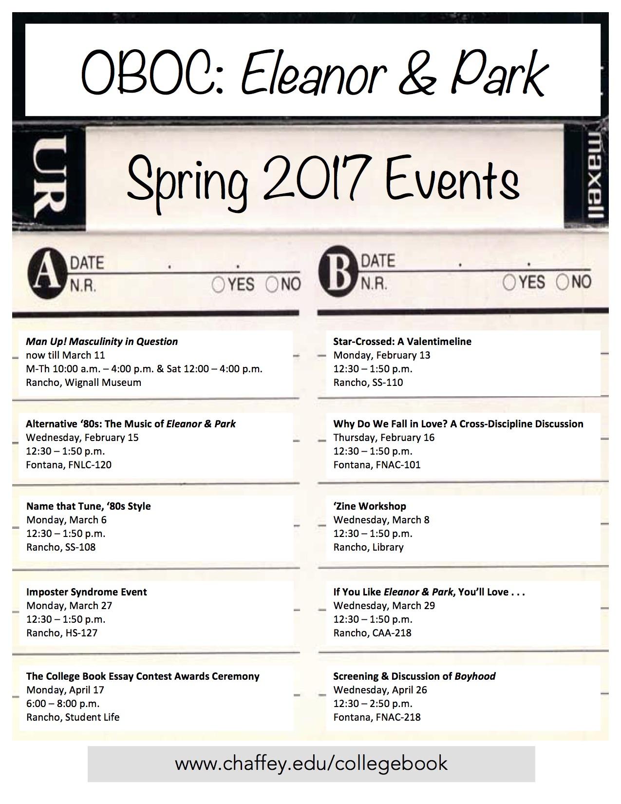 Word Spring 2017: OBOC Events – Spring 2017